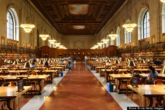 Main reading room of New York Public Library.