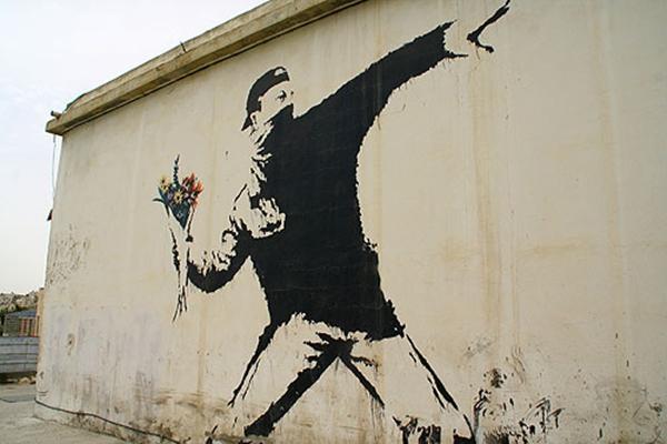banksy flower thrower
