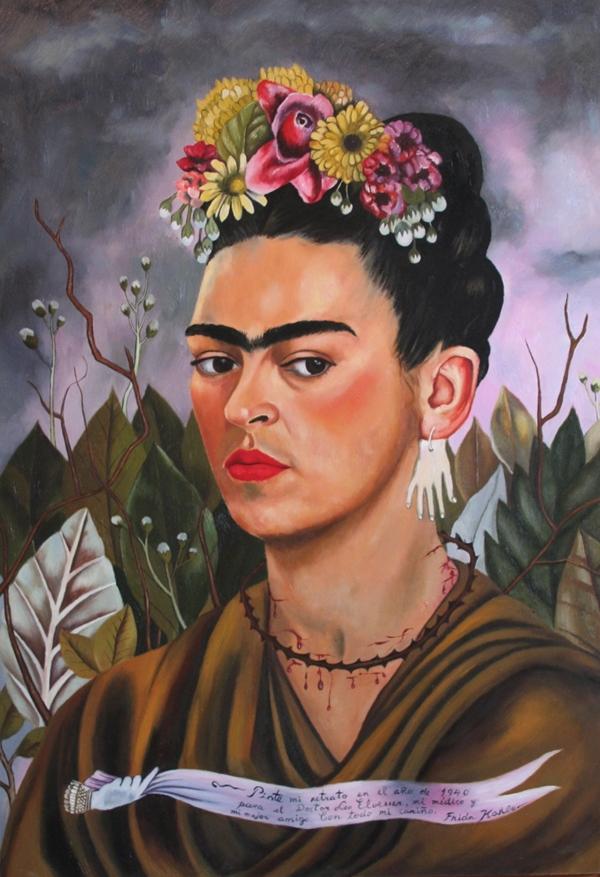 frida kahlo, self-portrait dedicated to dr. eloesser (1940)