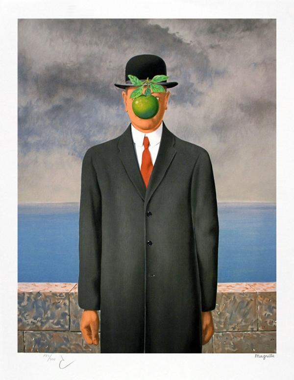 rené magritte, il figlio dell'uomo, 1964