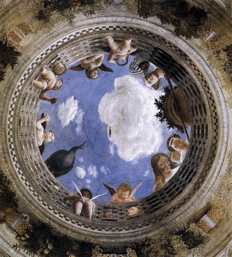 Ecco le 15 opere d arte per combattere la meteoropatia for Mantova camera sposi