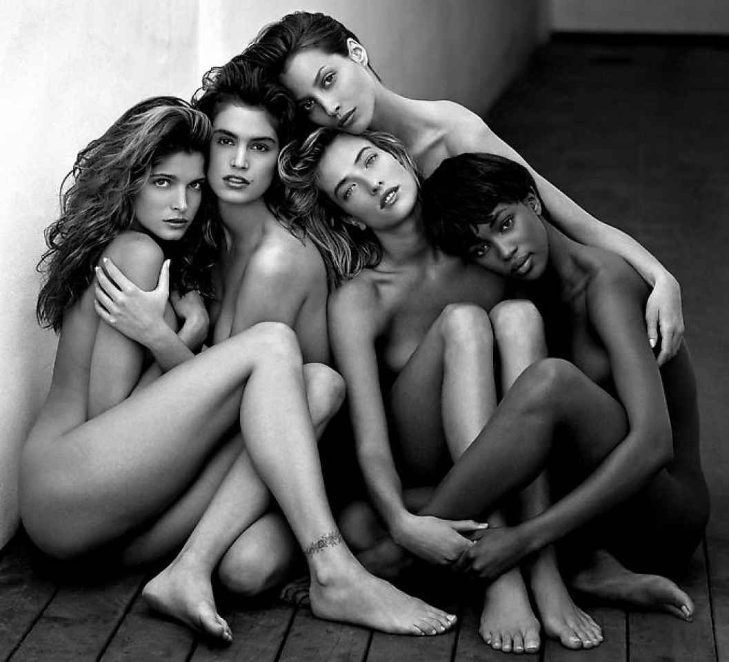 STEPHANIE, CINDY, CHRISTY, TATJANA, NAOMI © Herb Ritts, 1989