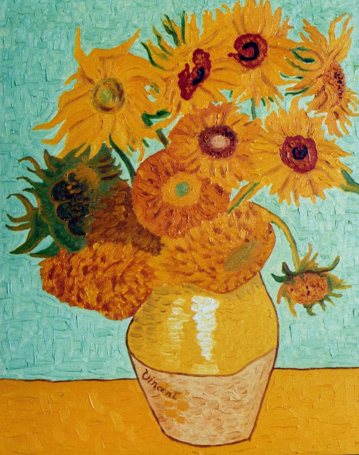 terrazza Vasi disegno : GIRASOLI ? Sono una serie di dipinti realizzati tra il 1888 e ...