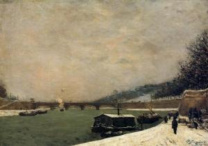 Paul-Gauguin-The-Seine-Pont-d_Iena-Snowing