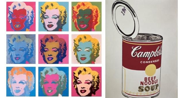 Andy Warhol le opere più famose della Pop Art