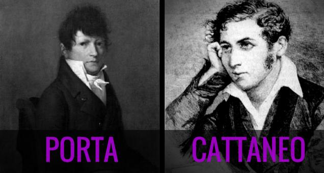Accadde oggi - 15 giugno. Ricordiamo Carlo Cattaneo e Carlo Porta