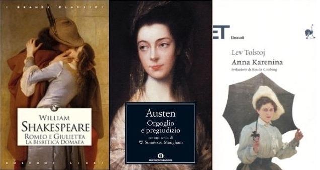 Da ''Romeo e Giulietta'' a ''Via col vento'', la top ten dei libri d'amore più belli di sempre