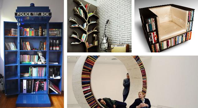 Ecco 20 librerie creative per la tua casa