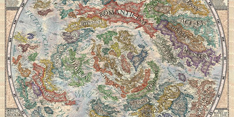 Arriva la Mappa della Letteratura, il sogno di ogni amante dei libri