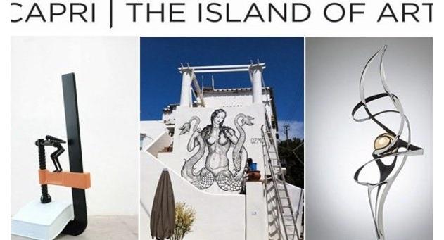 """Tripudio di arte per """"Capri The Island of Art"""""""