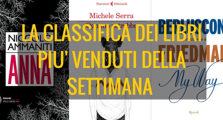 """Serra con """"Ognuno potrebbe"""" al 2° posto dei libri più venduti della settimana"""