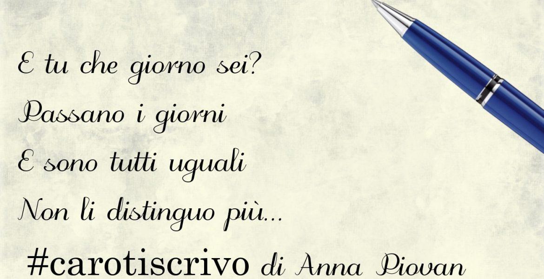 Lettera di Anna Piovan