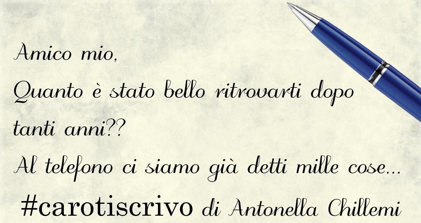 Lettera di Antonella Chillemi ad un amico