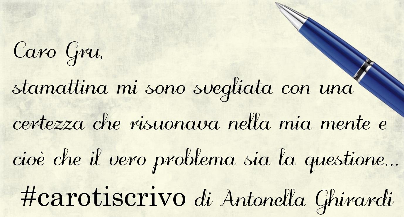 Lettera di Antonella Ghirardi