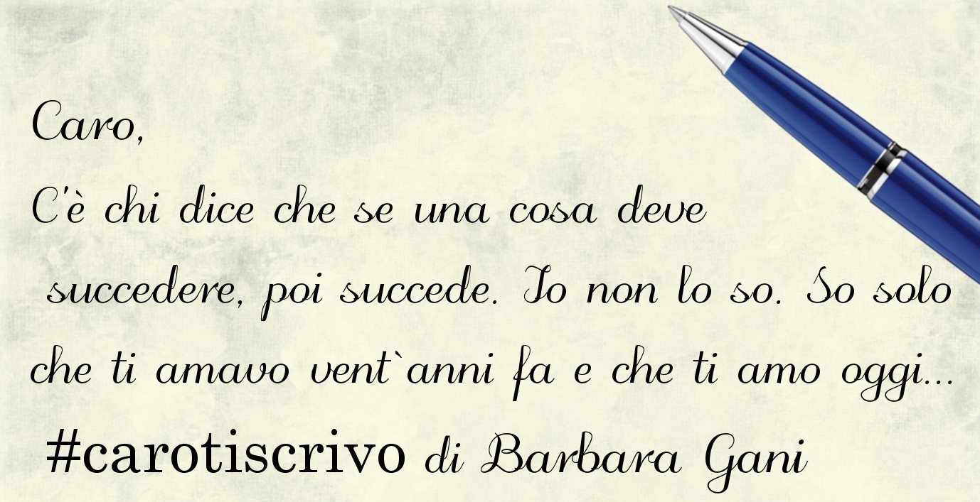 Lettera di Barbara Gani