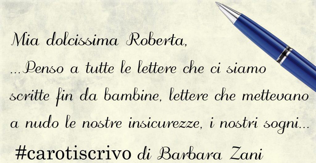 Lettera di Barbara Zani