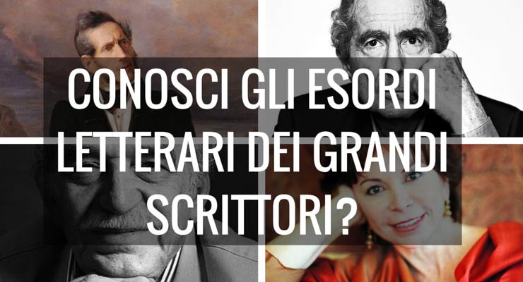 TEST - Conosci gli esordi letterari dei grandi scrittori?