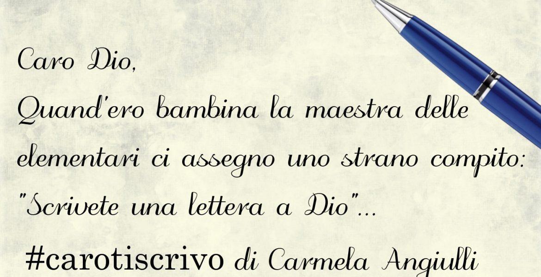 Lettera di Carmela Angiulli a Dio