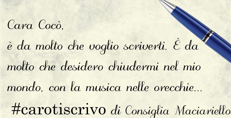 Lettera di Consiglia Maciariello