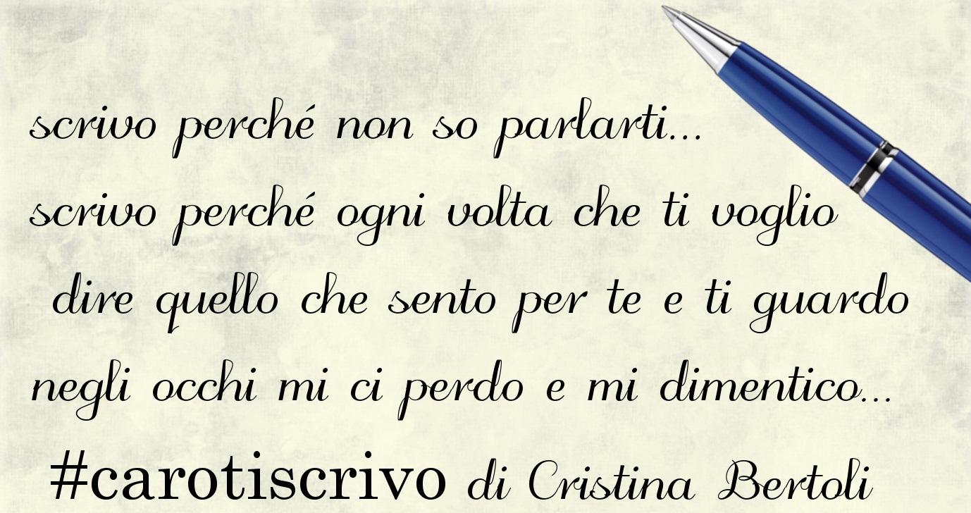 Lettera di Cristina Bertoli