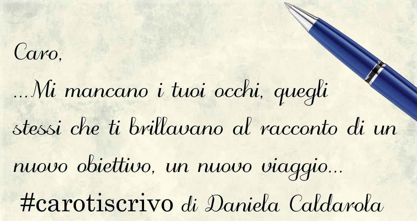 Lettera di Daniela Caldarola