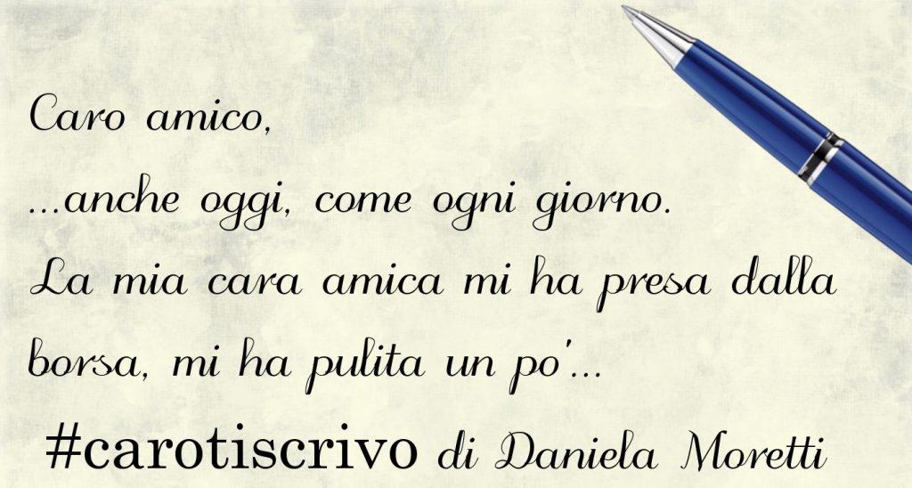 Lettera di Daniela Moretti ad un amico