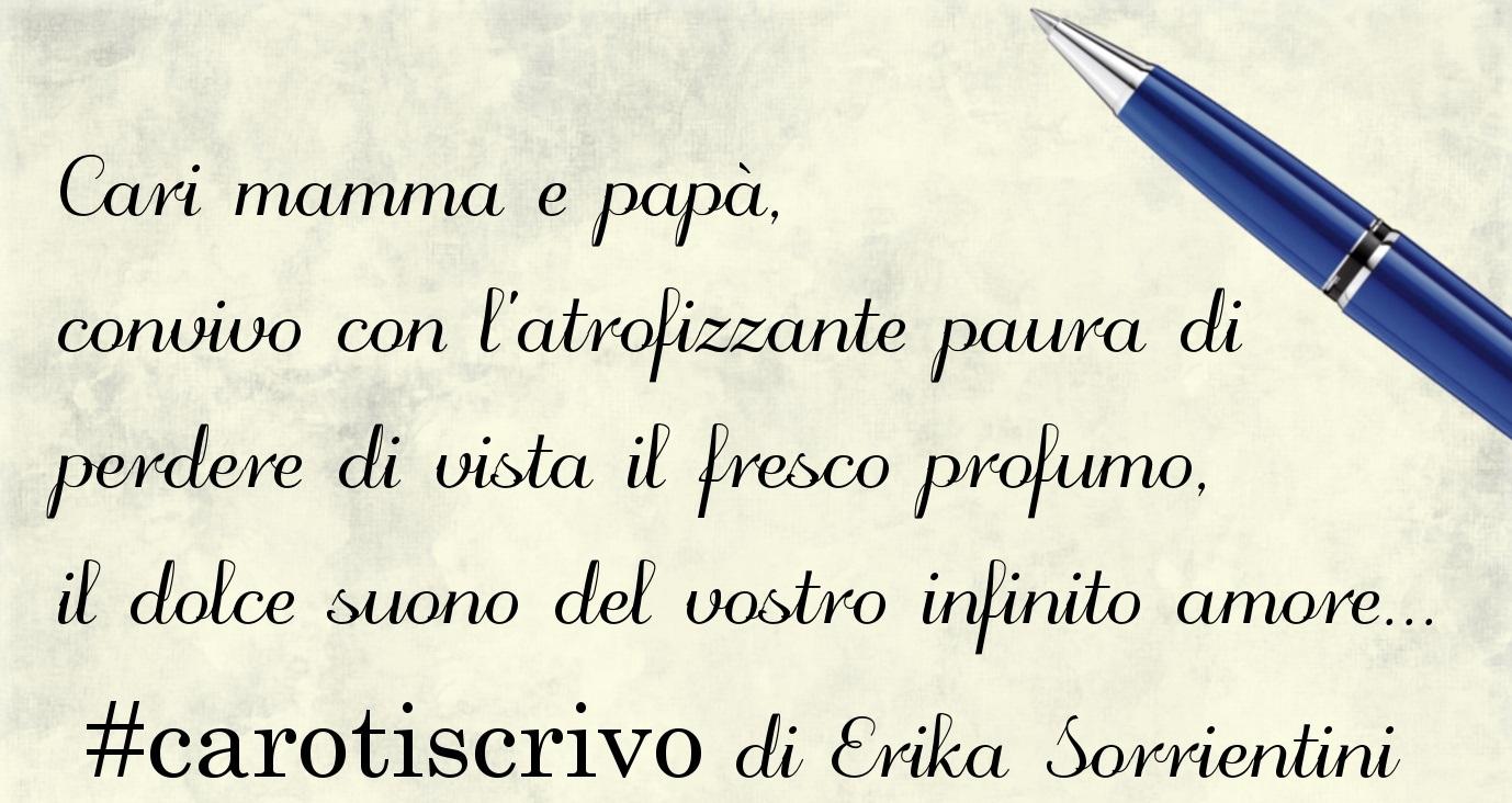 Lettera di Erika Sorrientini ai genitori