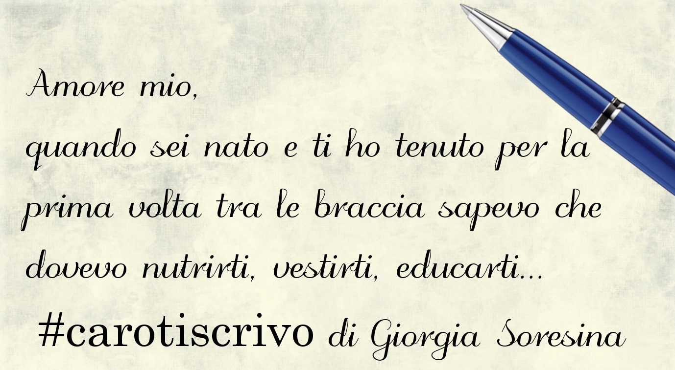 Lettera d'amore di Giorgia Soresina al figlio