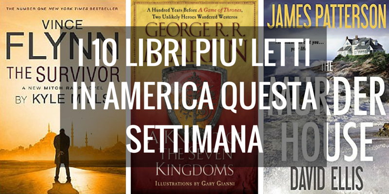 La classifica dei 10 libri più venduti per il New York Times