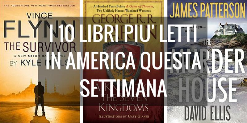 La classifica dei 10 libri più venduti per il New York Times