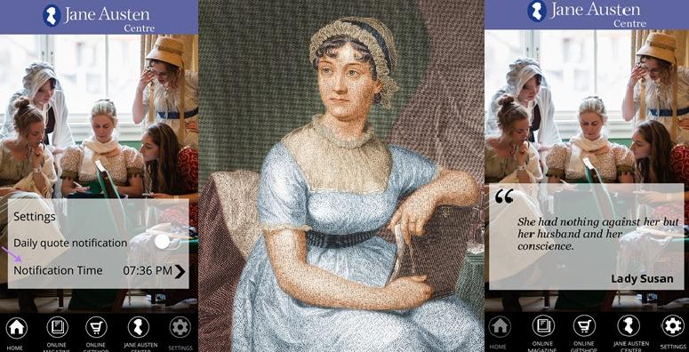 Una nuova applicazione sviluppata da Bath promette di rendere la tua vita migliore inviando giornalmente alcune citazioni famose della scrittrice inglese