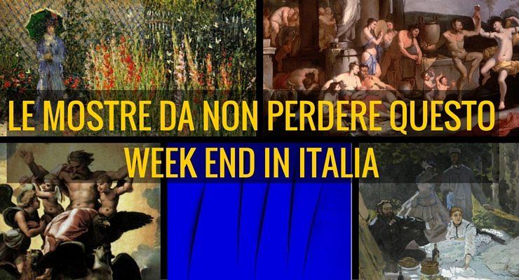 Le mostre d'arte da non perdere questo week end in Italia