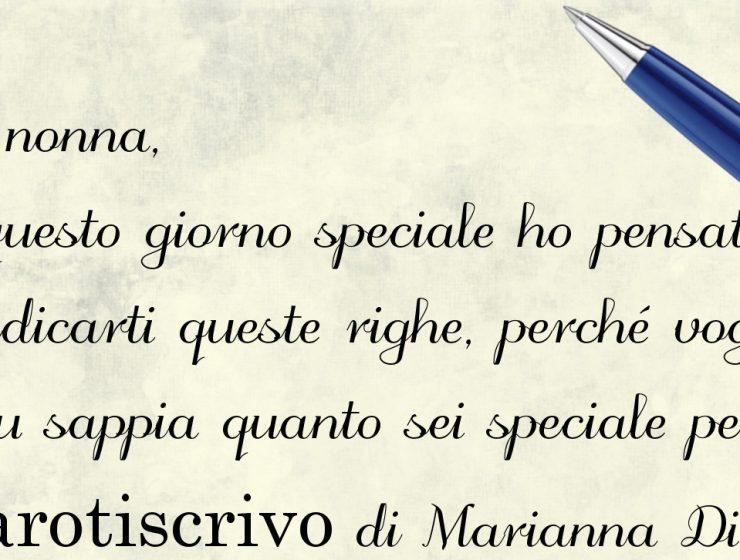 Lettera alla nonna di Marianna Di Falco