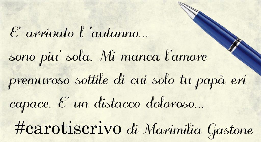 Lettera di Marimilia Gastone