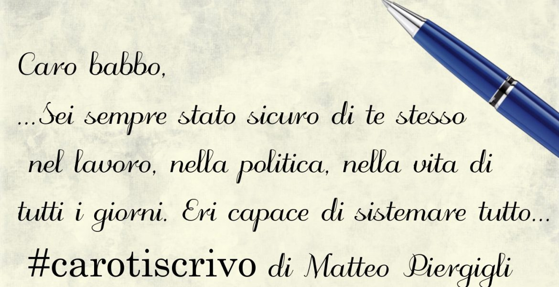 Lettera di Matteo Piergigli al padre