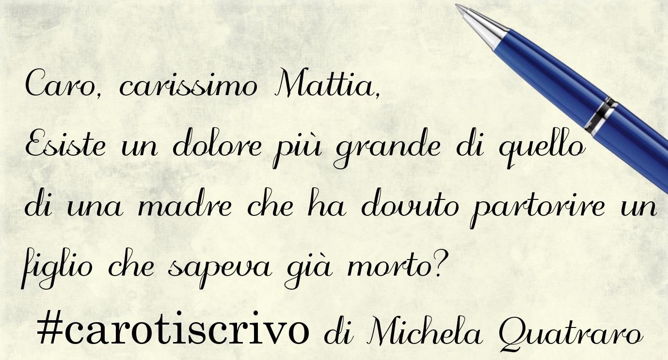 Lettera di Michela Quatraro al figlio