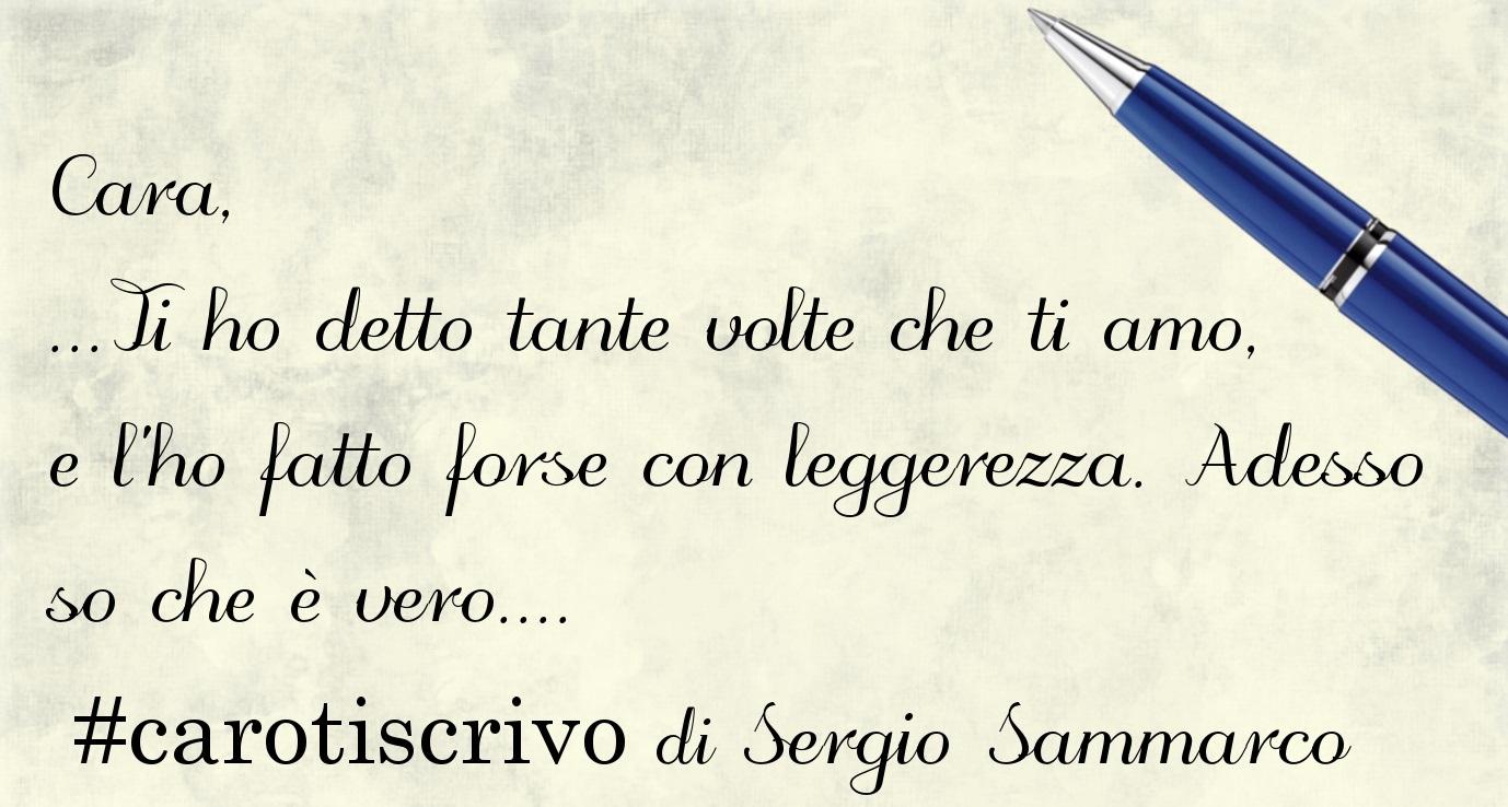 Lettera d'amore di Sergio Sammarco
