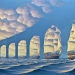 """Illusioni ottiche nei quadri, il """"realismo magico"""" di Robert Gonsalves"""