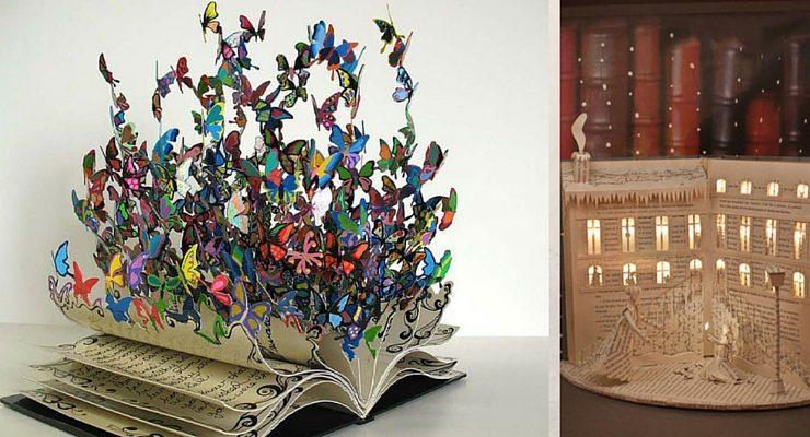 25 incredibili sculture realizzate con i libri