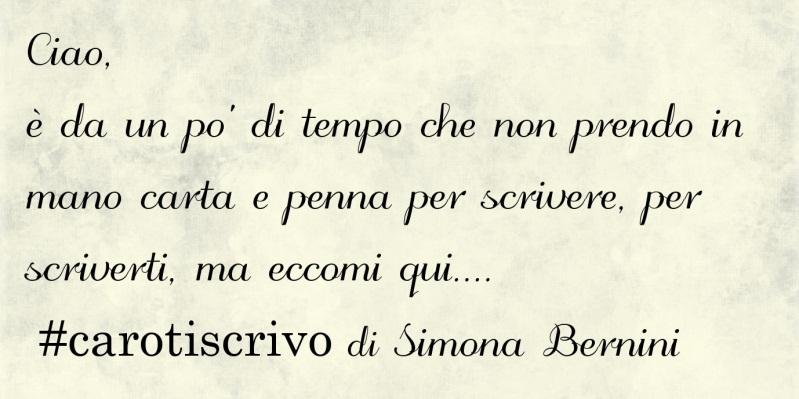 Lettera di Simona Bernini ad un amico