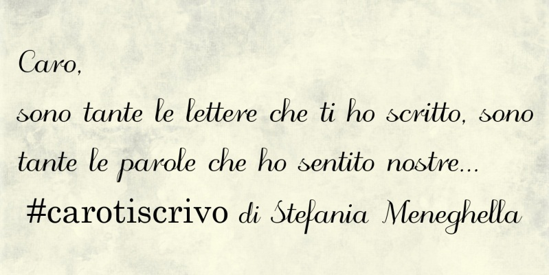 Lettera di Stefania Meneghella