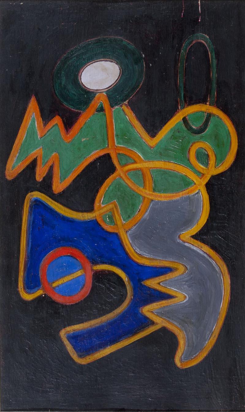 Dorfles, Composizione con cresta, 1949