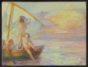 Jules Van Biesbroeck - Floridum Mare, pastello su carta
