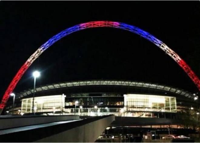 Lo stadio di Wembley a Londra