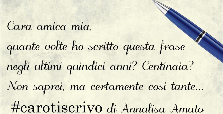 Lettera di Annalisa Amato