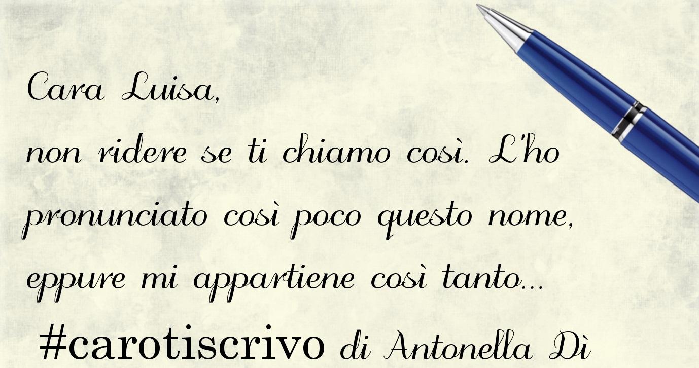 Lettera di Antonella Dì