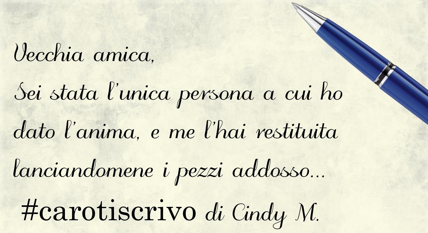Lettera di Cindy M.