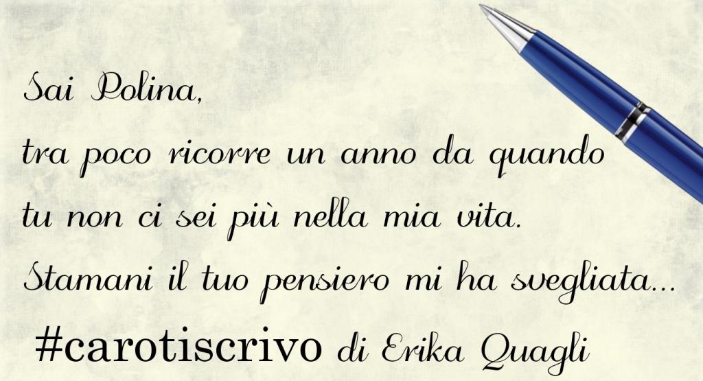 Lettera di Erika Quagli