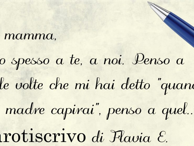 Lettera di Flavia E. alla madre