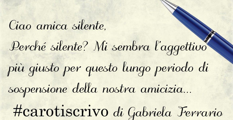 Lettera di Gabriela Ferrario